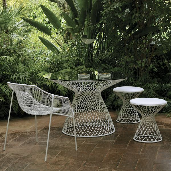 EMU Metal Mesh Glass Outdoor Dining Table by Home Infatuation ...