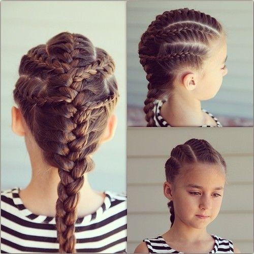 5 French Braids Connecting Into The Middle Baby Girl Hairstyles Hair Styles Baby Girl Hair