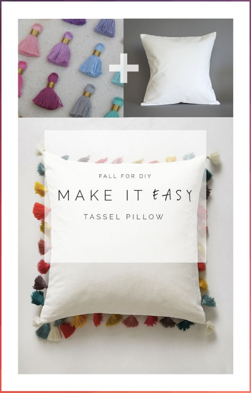 Easy Pillow / Cushion DIY Idea - Throw pillows are a great way to quickly update... #Easy #Pillow #Cushion #DIY #Idea #Throw #pillows #are #great #way #quickly #update...
