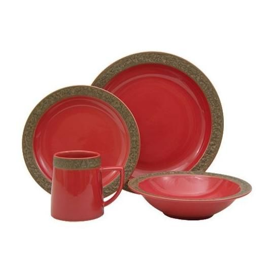rustic dinnerware lodge 16 piece set | Sango Rustic Cranberry Dinnerware Set 16 Piece -  sc 1 st  Pinterest & rustic dinnerware lodge 16 piece set | Sango Rustic Cranberry ...