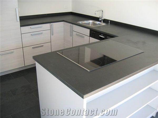 Grey Countertops cinza ardosia - brazil grey slate countertops   kitchen