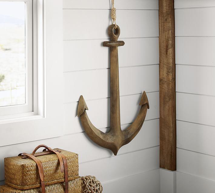 Wooden Anchor Wall Art Anchor Wall Art Mirror Decor Nautical Decor