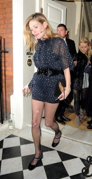 Kate Moss Leaves Marks Club Channeling Kate Kate Moss David