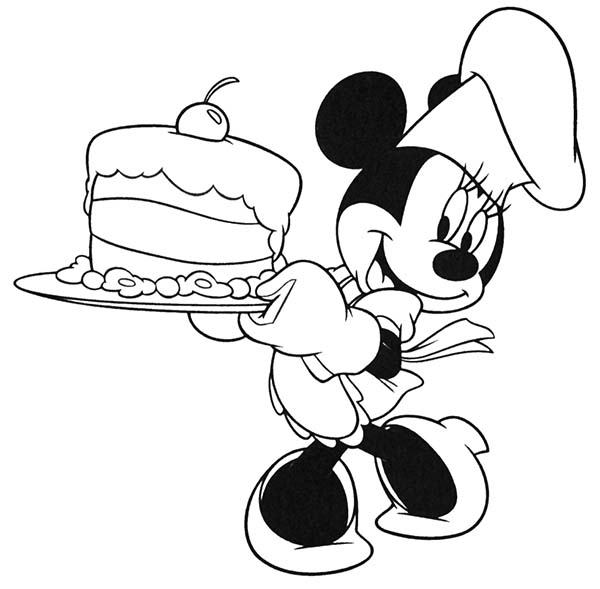 Minnie Mouse Cooking Coloring Pages Taken
