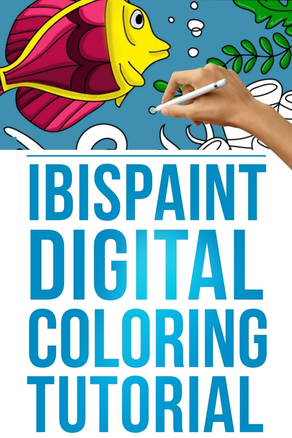 Learn How To Digitally Color Using The Ibispaintx App Coloring Tutorial Tutorial Digital