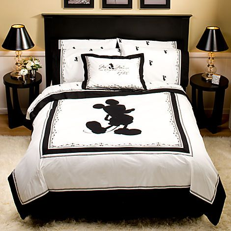 Vintage Black And White Mickey Mouse Duvet Cover Bed Bath Adults Disney Store Disney Bedrooms Disney Room Decor Small Room Bedroom