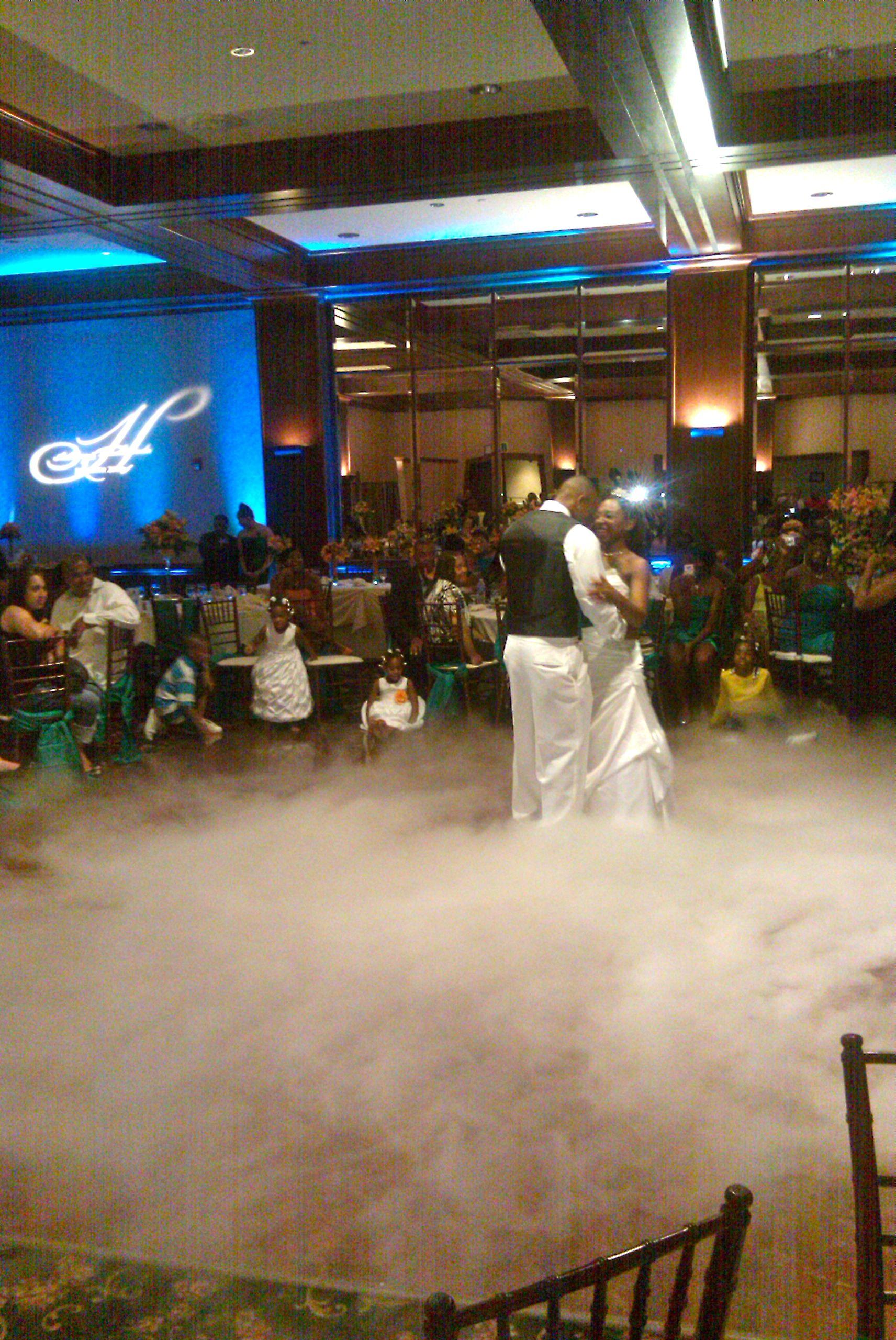 Wedding Monogram With Dancing In Cloud Effect At Arden Hills Resort Spa