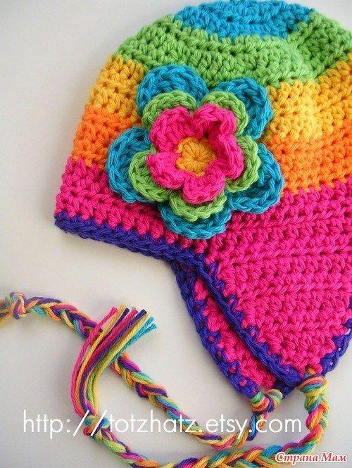 patrones crochet, gorros con orejeras para niños y bebés 10 ...