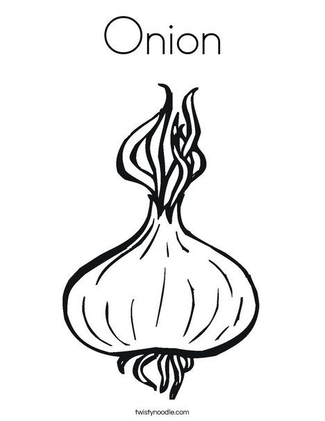 Onion Coloring Page Twisty Noodle Vegetable Coloring Pages