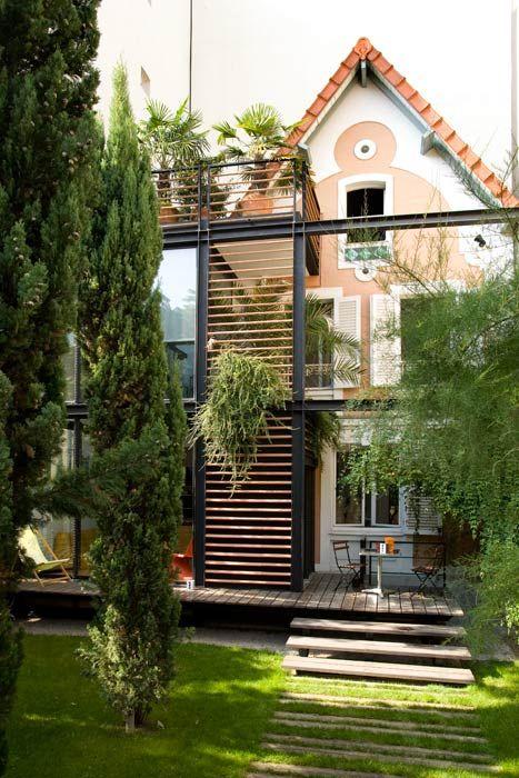 extension verrière métallique Extensions Pinterest Extensions - faire une extension de maison