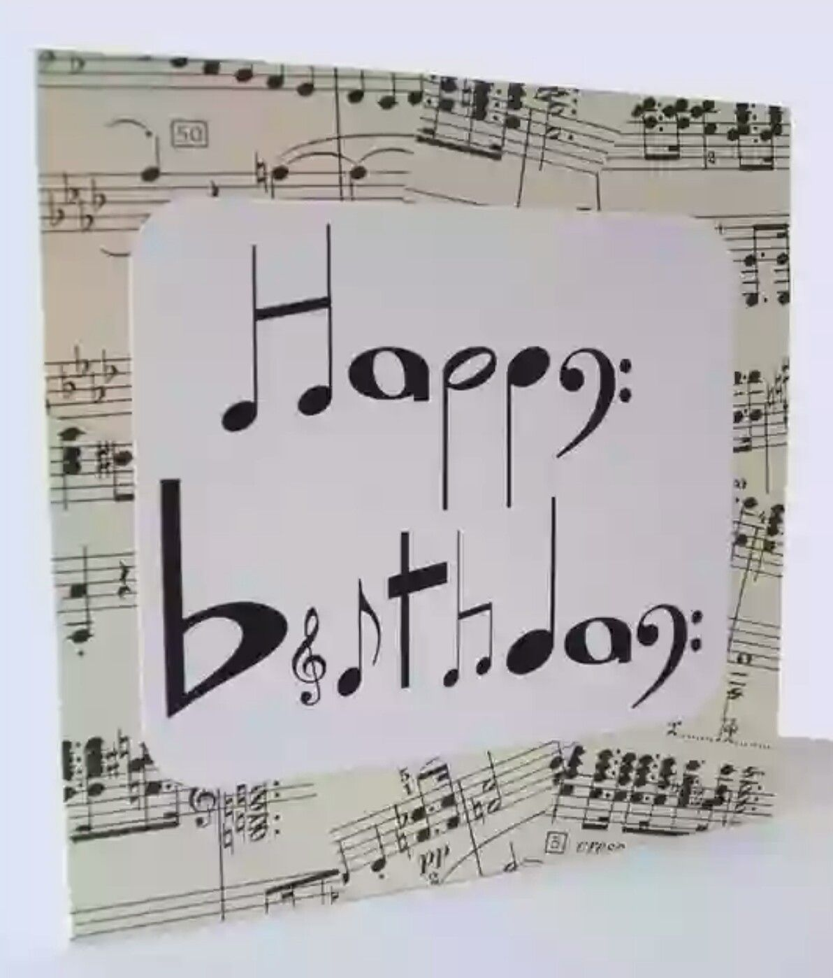 Happy Birthday Music Notes Signs Musical Cards
