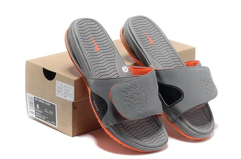 Nike Air LeBron Slide Grey Orange [Nike Air LeBron Slide-6246] - $46.99 � Nike  Air ShoesNike ...