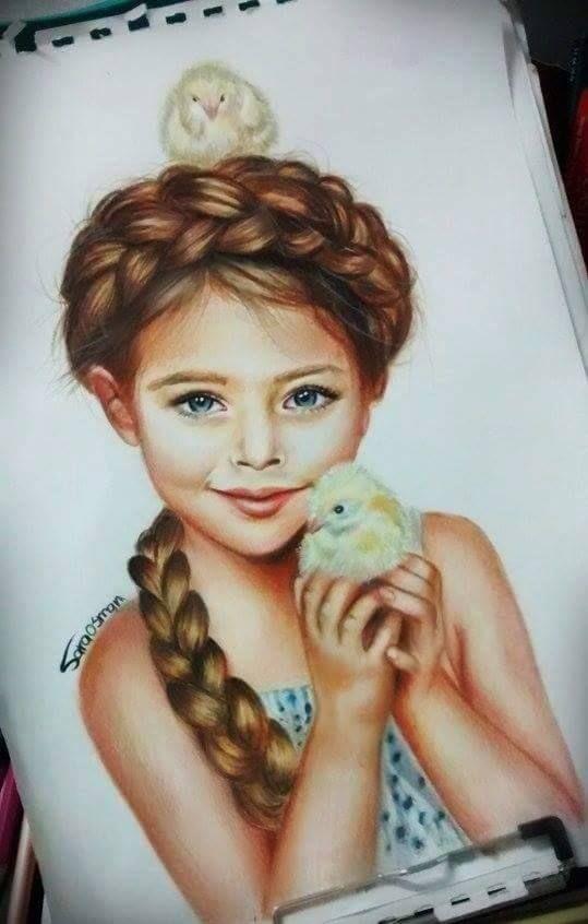 رسم بنت Realistic Drawings Face Drawing Portrait Drawing