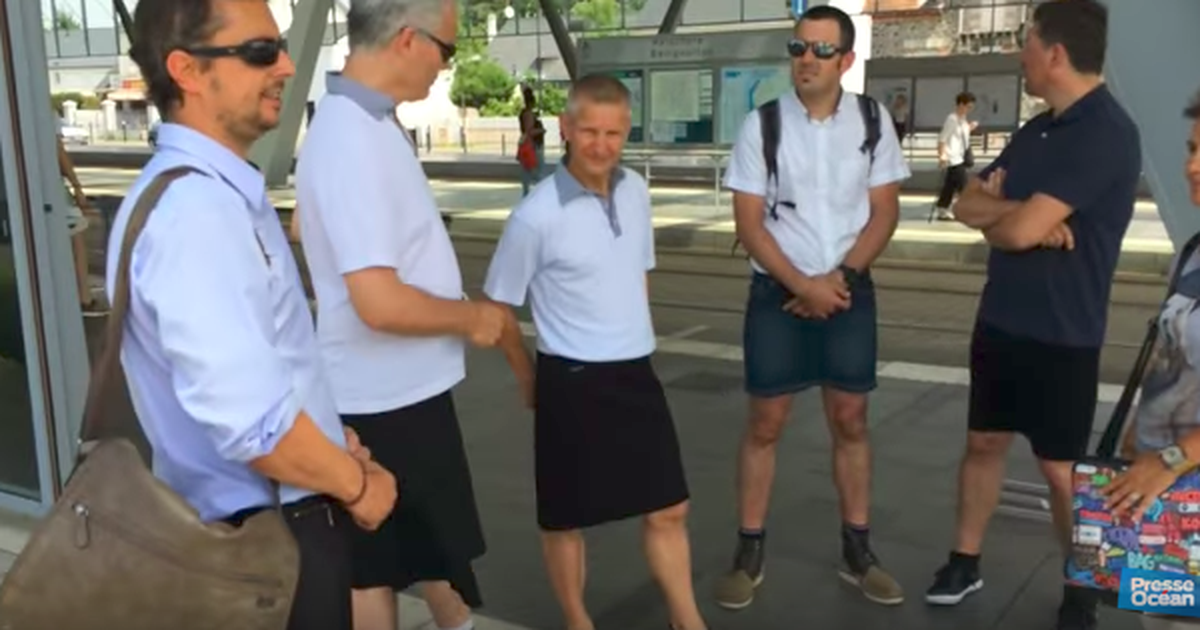 Men Can't Wear Shorts To Work, So They're Wearing Skirts