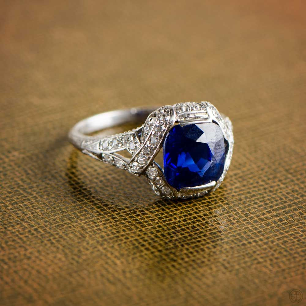 rare a o by cleef van ring burmese very archives and blue carat arpels fine diamond royal sapphire