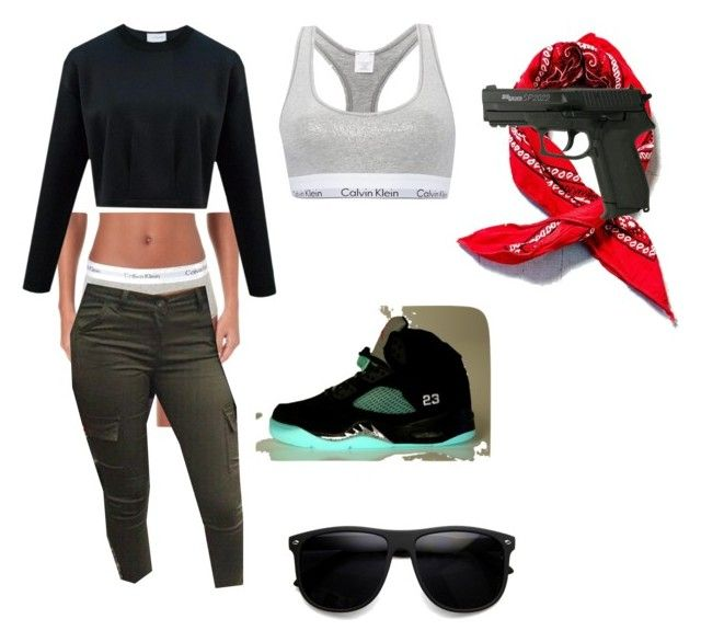 """""""Thug Life"""" by prettyrickiii ❤ liked on Polyvore featuring Urban Renewal and Calvin Klein"""