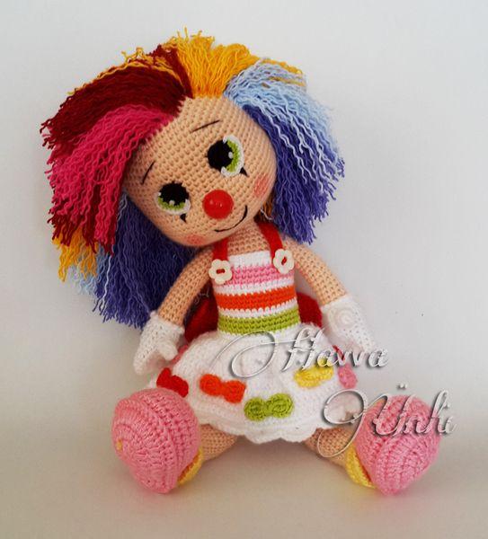 Clown Mädchen Häkelanleitung | Häkelanleitung, Dawanda und Puppen