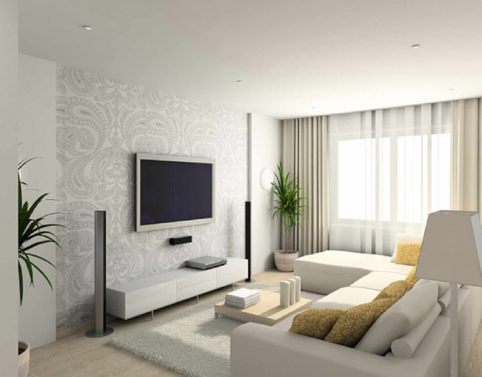 Modern Living Room Wallpaper Ideas 25 heavenly white interior designs | wall painting colors, living