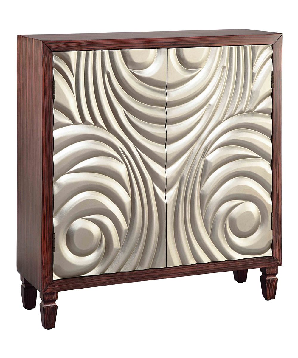 Cool Art Deco Kitchen Cabinets: Gold & Dark Cherry Art Deco Cabinet