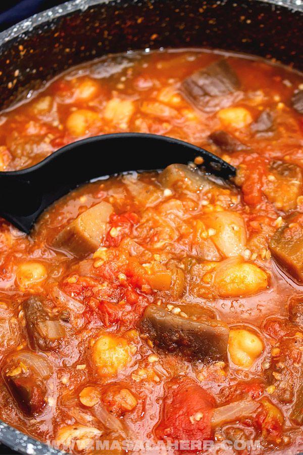 Lebanese Moussaka Stew [Maghmour] 🍲 MasalaHerb.com