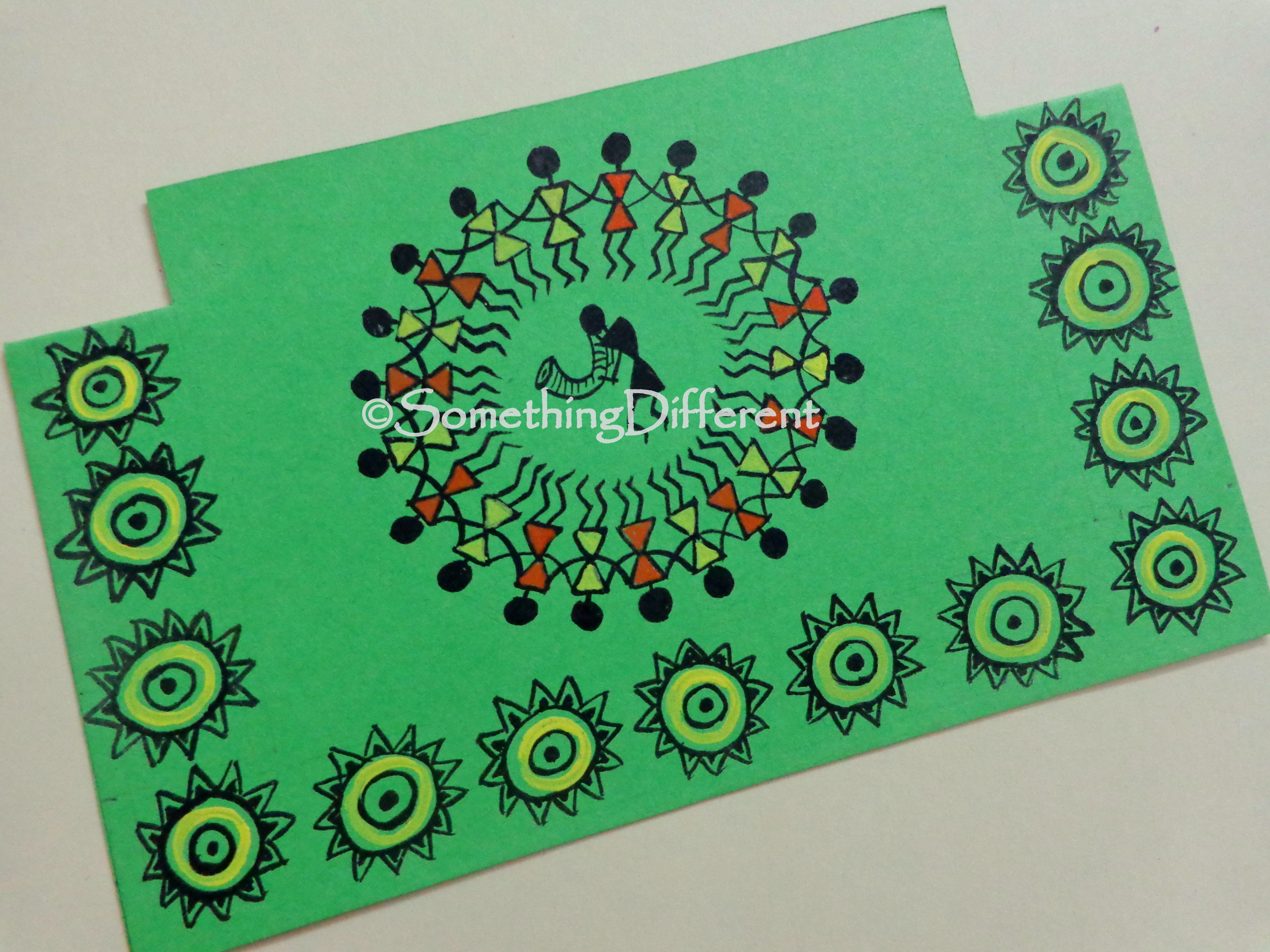 Greeting card warli warli painting greeting cards pinterest greeting card warli kristyandbryce Gallery