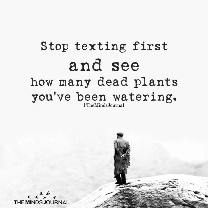 Stop Texting First