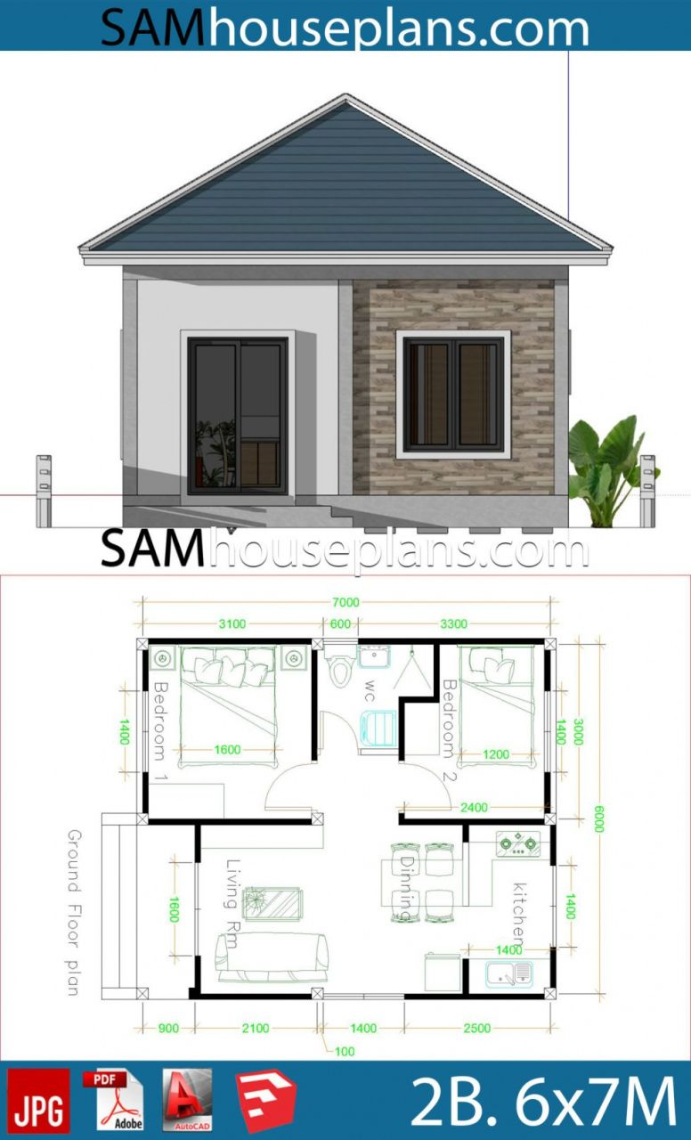 70 Very Small 2 Bedroom House Plans 2022 In 2021 House Plans Simple House Design Small House Design Plans