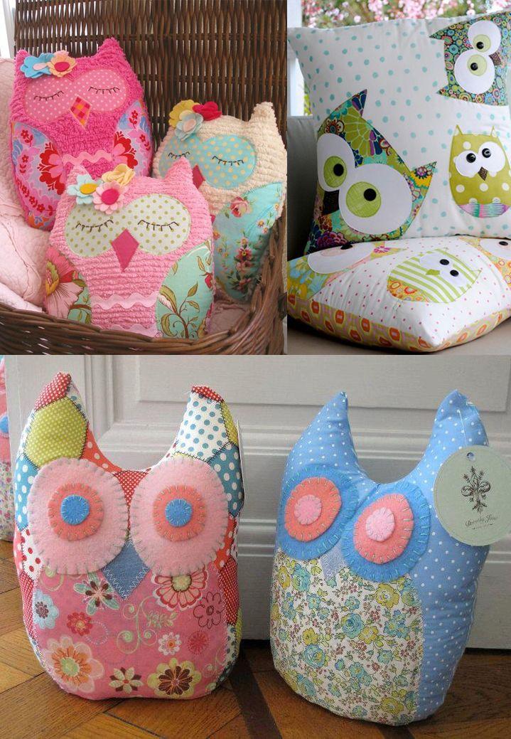 owl pillows !