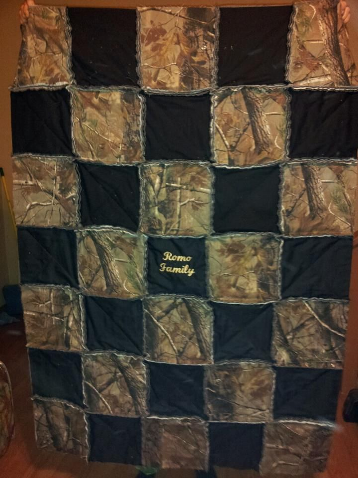 A Custom Camo Rag Quilt I Use A Same Fabric On Back As On