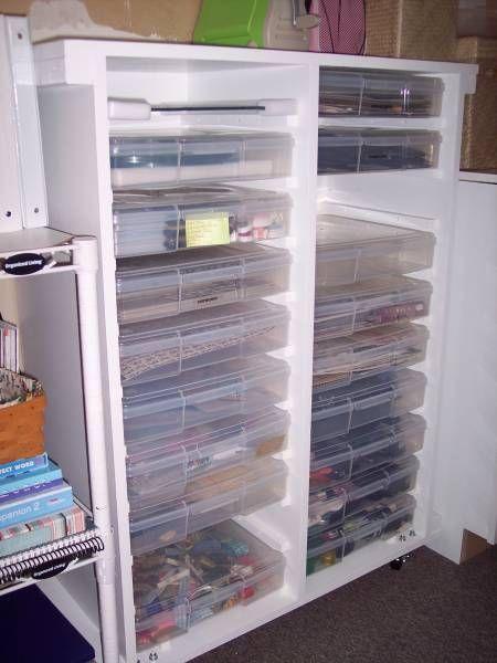 Diy Iris Case Shelf Unit Measurements 41 3 4 X 34 1 4 X 14 7 8 Exterior 3 1 4 Inside Between Cases Paper Storage Craft Paper Storage Craft Room Design