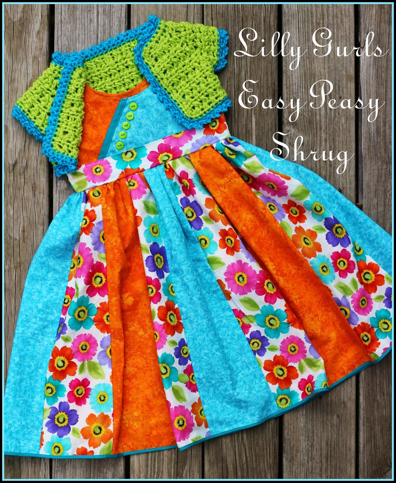 Lilly Gurls Easy Peasy Shrug ~FREE PATTERN~ | Vestidos ...