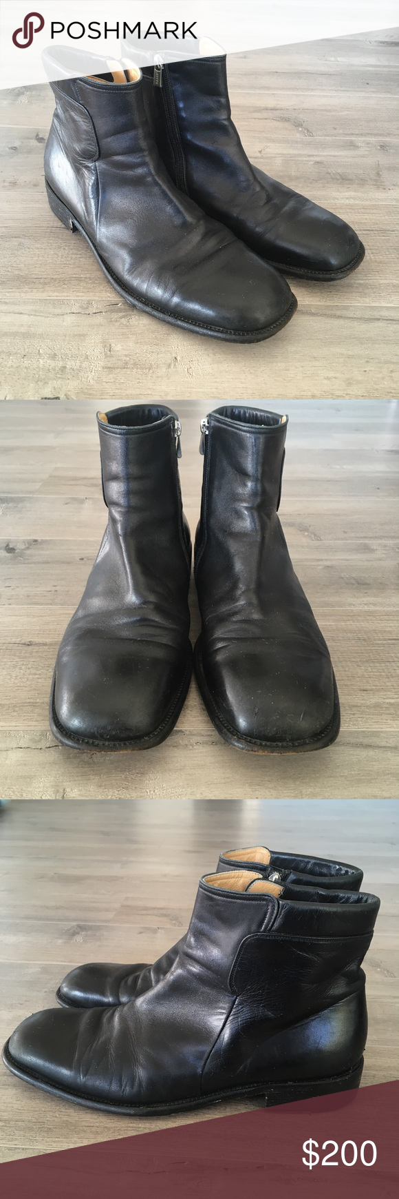 Pre-owned - Black Leather Boots Bally amH2E