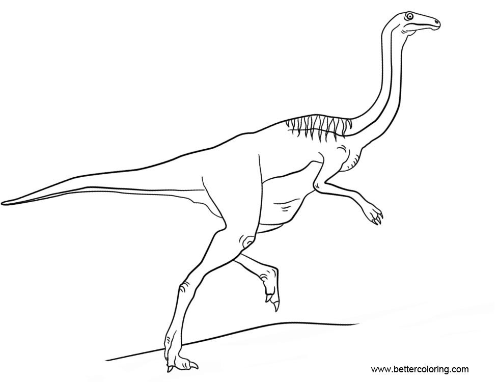 Jurassic World Gallimimus Coloring Coloring Pages Color Jurassic World