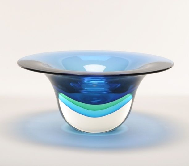 Murano Glass Bowls Murano Glass Bowl Bluegreenaqua Art Glass
