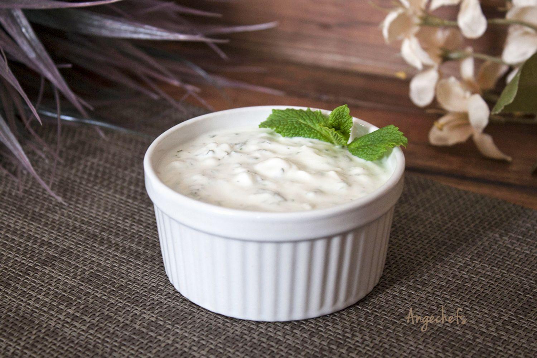 Salsa De Yogur Y Menta Salsa De Yogur Salsa De Menta Comida Saludable
