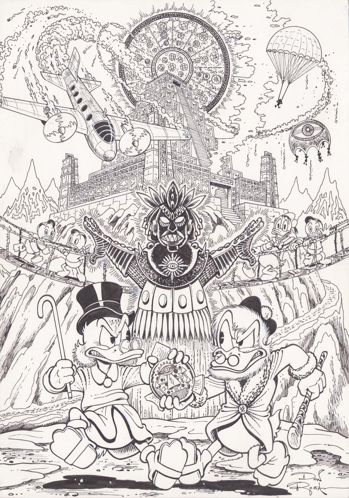 Picsou - The Son of the Sun par Don Rosa - original cover
