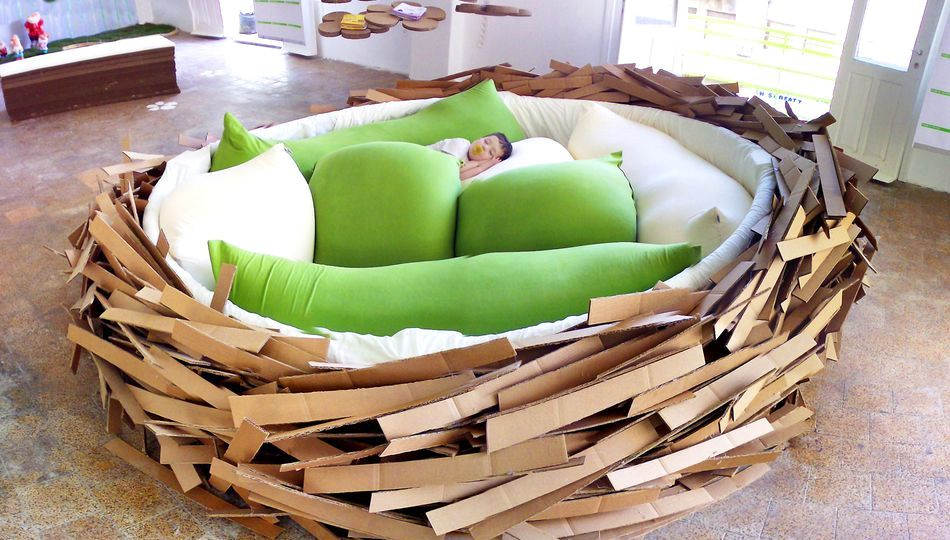 giant human nest bed (via Nest bed, Unique