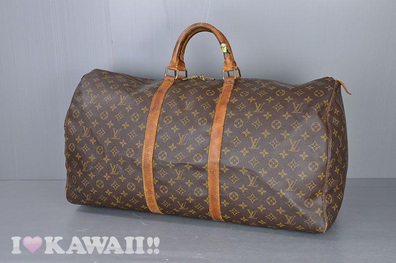 Authentic Louis Vuitton Monogram Keepall 60 Travel Bag M41422