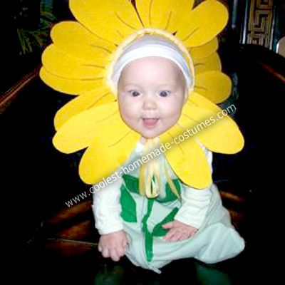 2be37f908df40 Homemade Sunflower Baby Costume: My little 6 month old daughter, Evelyn  Rose, was the coolest Sunflower Baby for Halloween. This Homemade Sunflower  Baby ...