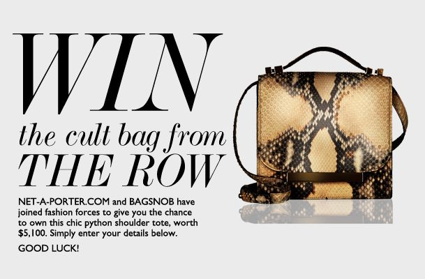 Don't start your weekend without signing up for THIS. @TheRow Giveaway with @NETAPORTER x @BagSnob