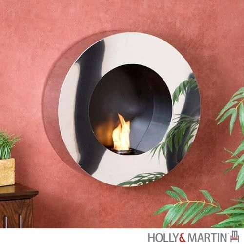 Holly and Martin Ashland Wall Mount Gel Sconce - HM-37-026-058-4-34. HM-37-026-058-4-34 - Holly and Martin Ashland Wall Mount Gel Sconce Sure to be one of the most eye-catching features of your home, this wall mount gel fuel sconce is simply stunning. Constructed of stainless steel with a brilli.. . See More Wall Mounted Fireplaces at http://www.ourgreatshop.com/Wall-Mounted-Fireplaces-C1032.aspx