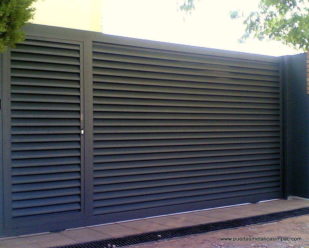 Modelos puertas correderas de garage arquitectura for Puertas para garage