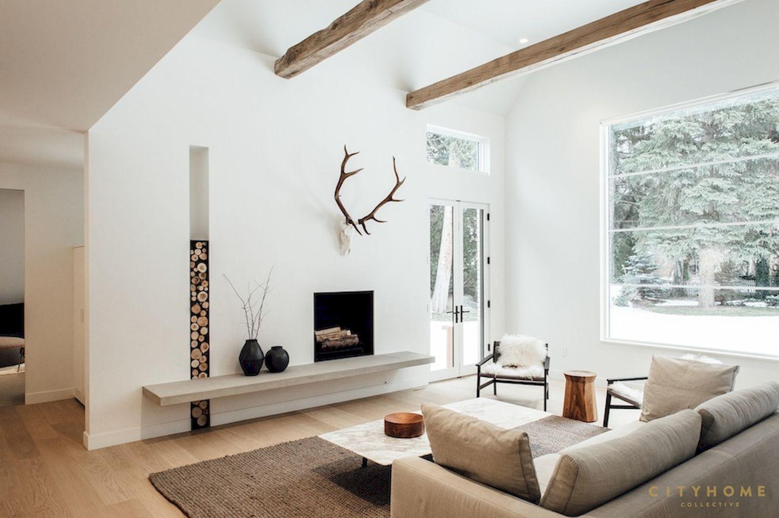 Modern Scandinavian Fireplace: 80 Inspiring Scandinavian Fireplace Ideas Decorations And