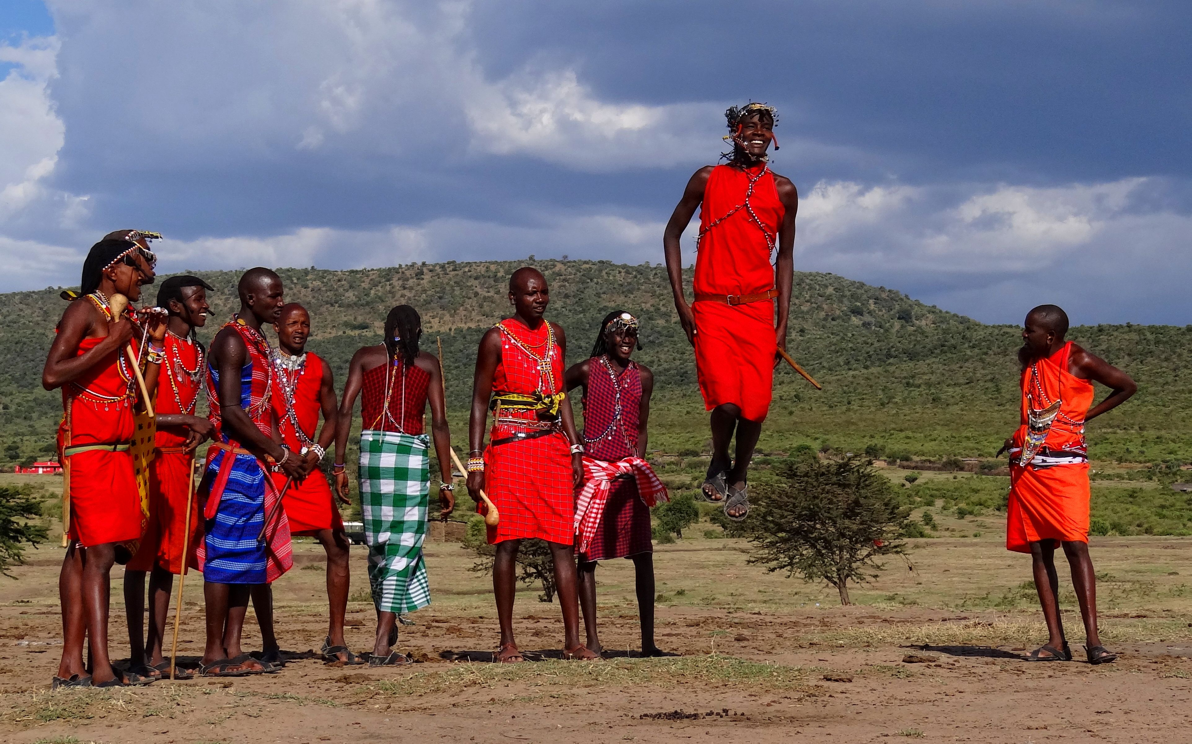 """The Maasai dance is called adamu (""""the jumping dance"""") and is ..."""