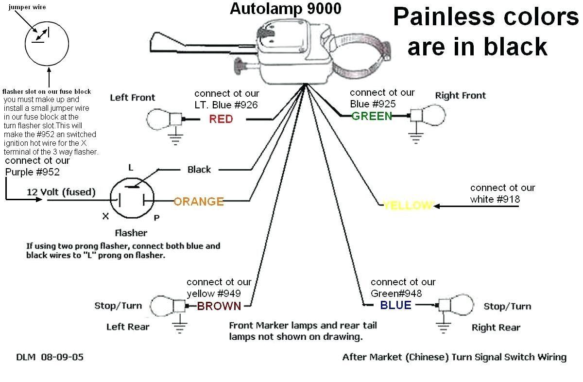 Universal Turn Signal Switch Wiring Diagram Wiring Diagram Collection Turn Ons Wire Switch