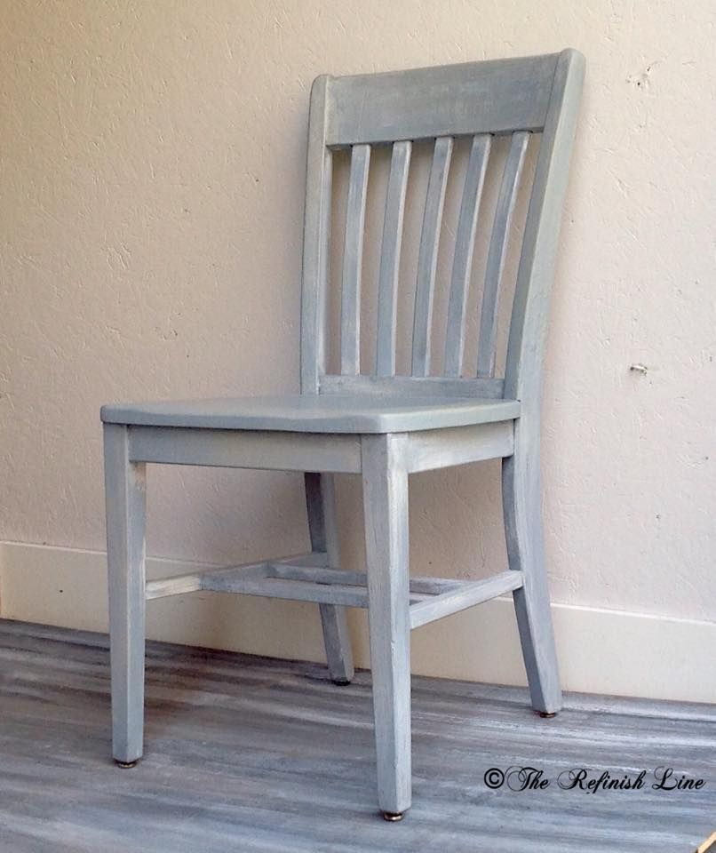White washed dining chair using Superior Paints from The Superior Paint Co. Retailer The Refinish Line in Grand Forks BC