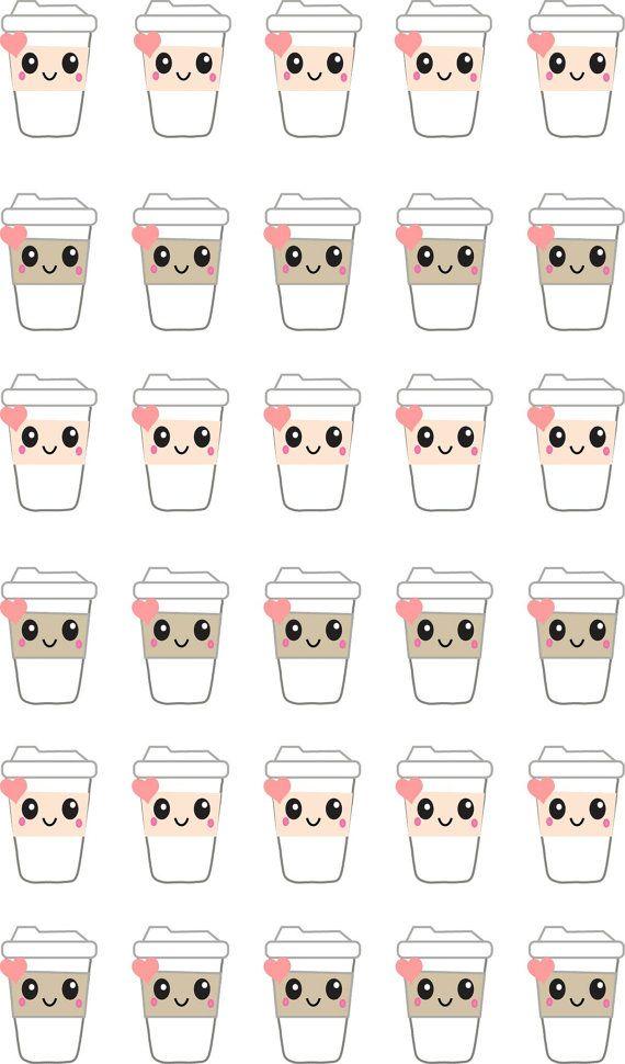 30 latte life planner stickerslife planner stickerssticker printing singaporeperfect for erin condren life planner