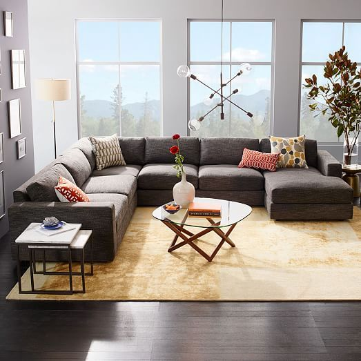 Urban 4-Piece Chaise Sectional | Decoracion living comedor, Sillones ...
