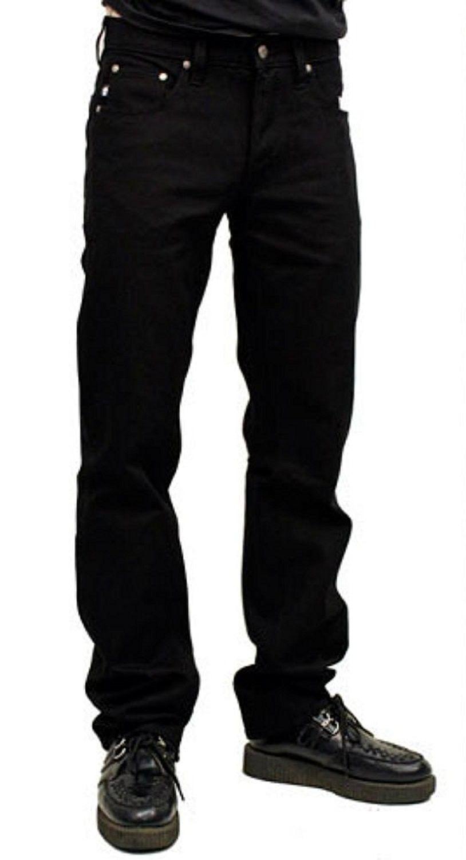 Rockabilly Black Bull Denim 50s Biker Motorcycle Greaser Jeans Pants Cz12crmeg69 Black Jeans Men Jeans Pants Rockabilly Men [ 1500 x 814 Pixel ]