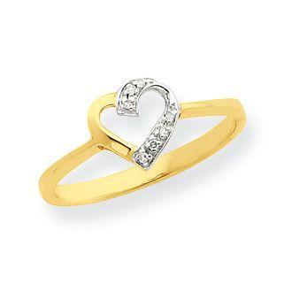 14k & Rhodium Marquise Diamond Heart Ring Y7988A